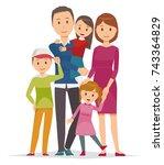 illustration of family   5... | Shutterstock .eps vector #743364829
