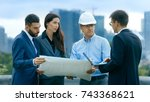 team of investors  developers... | Shutterstock . vector #743368621