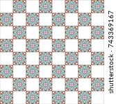 colorful chessboard pattern for ... | Shutterstock . vector #743369167