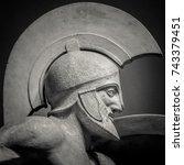 Man In Helmet Greek Ancient...
