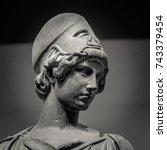 athena the ancient greek goddess | Shutterstock . vector #743379454