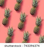 colorful fruit pattern of fresh ... | Shutterstock . vector #743396374