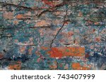 abstract multicolor grunge... | Shutterstock . vector #743407999