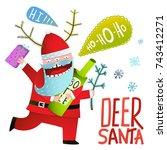 happy new year celebration fun... | Shutterstock . vector #743412271