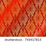 ethnic geometric print.... | Shutterstock .eps vector #743417815
