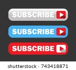 three various subscribe buttons ... | Shutterstock .eps vector #743418871