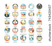 shopping vector icon pack | Shutterstock .eps vector #743420437