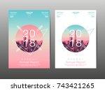 annual report 2018  future ... | Shutterstock .eps vector #743421265