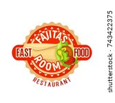 fast food fajitas icon for... | Shutterstock .eps vector #743422375