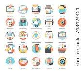 digital advertising icon set    Shutterstock .eps vector #743424451
