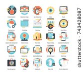 icons set of software design... | Shutterstock .eps vector #743428087