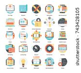 vector collection of design and ... | Shutterstock .eps vector #743428105