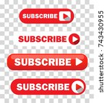 set of four subscribe buttons... | Shutterstock .eps vector #743430955