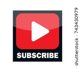 multimedia subscribe button... | Shutterstock .eps vector #743430979