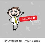 happy businessman showing... | Shutterstock .eps vector #743431081