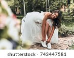 perfect look  attractive young... | Shutterstock . vector #743447581