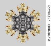 modern design poster  cover ... | Shutterstock . vector #743451304