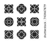artistic geometric shape vector ... | Shutterstock .eps vector #743467879