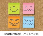 stickers  sticky  paper ...   Shutterstock .eps vector #743474341