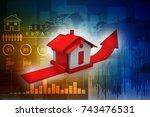 3d rendering real estate... | Shutterstock . vector #743476531