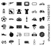 bicycle icons set. simple style ... | Shutterstock . vector #743480935