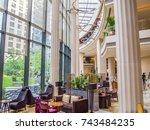 beijing  china   june 18  2011  ... | Shutterstock . vector #743484235