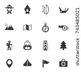 day of scouts vector icons for... | Shutterstock .eps vector #743485021