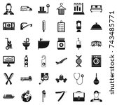 work icons set. simple style of ... | Shutterstock . vector #743485771