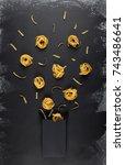 pasta packaging template...   Shutterstock . vector #743486641