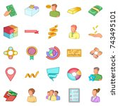 fiscal officer icons set.... | Shutterstock . vector #743495101