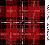 Red And Black Scottish Woven...