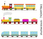 cartoon train  children's toy... | Shutterstock .eps vector #743497861