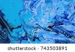 dark blue marble color mix ... | Shutterstock . vector #743503891