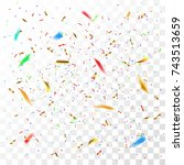 color confetti | Shutterstock .eps vector #743513659