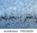 snowflakes ice pattern with... | Shutterstock . vector #743518339