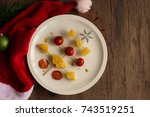 Christmas Tree Fruit On Plate...