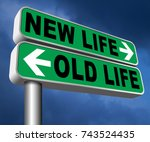 new and old life new beginning... | Shutterstock . vector #743524435