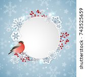 vector christmas banner with... | Shutterstock .eps vector #743525659