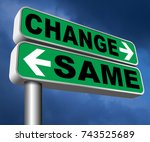 change same repeat the old or... | Shutterstock . vector #743525689