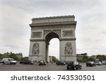 paris  france   september 6  ... | Shutterstock . vector #743530501