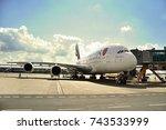 prague   may 6  2016  emirates... | Shutterstock . vector #743533999