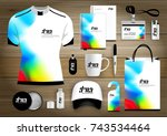 vector abstract stationery...   Shutterstock .eps vector #743534464