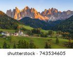 autumn in the italian dolomites ...   Shutterstock . vector #743534605