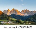 autumn in the italian dolomites ...   Shutterstock . vector #743534671