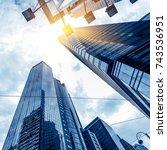 toned image of modern office... | Shutterstock . vector #743536951