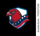 american eagle vector... | Shutterstock .eps vector #743537104