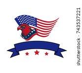 american eagle vector... | Shutterstock .eps vector #743537221