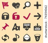 set of web icons vector. visit...