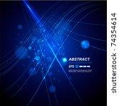 abstract background vector | Shutterstock .eps vector #74354614