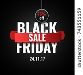 black friday sale banner.... | Shutterstock .eps vector #743551159
